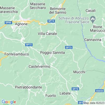 cartina Poggio Sannita