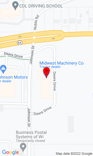 Google Map of Polfus Implement 730 Deere Dr, New Richmond, WI, 54017