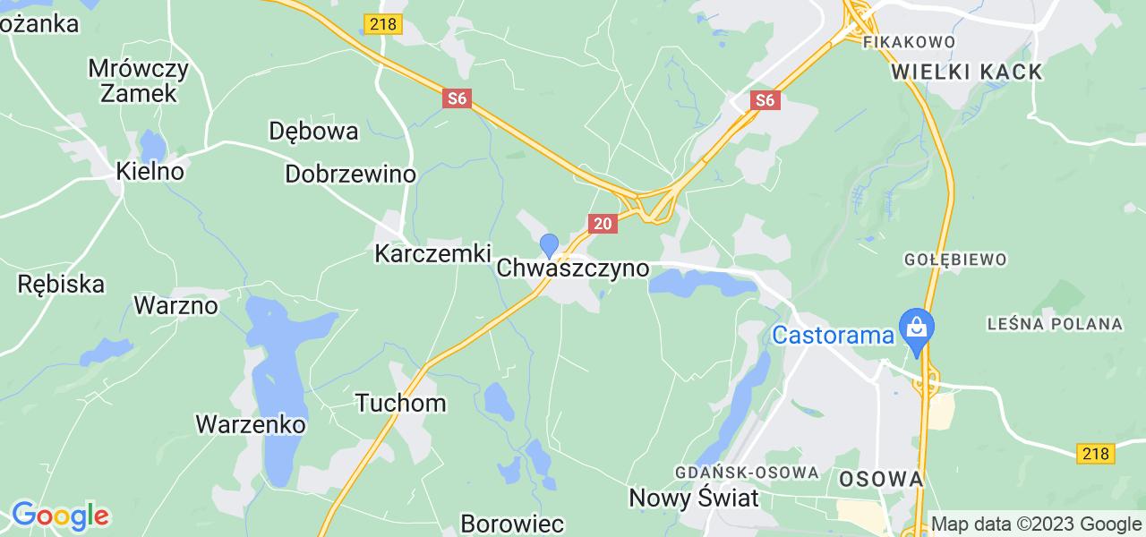 Dostępne w Chwaszczynie lokalizacje punktów nadania, z których możesz skorzystać, chcąc wysłać turbinę do regeneracji w największym serwisie w Polsce