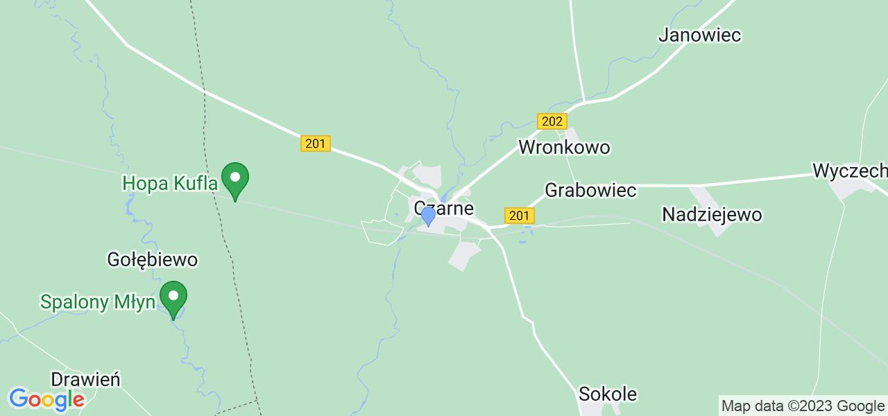 Dostępne w Czarnych lokalizacje punktów nadania, z których możesz skorzystać, chcąc wysłać turbinę do regeneracji w największym serwisie w Polsce