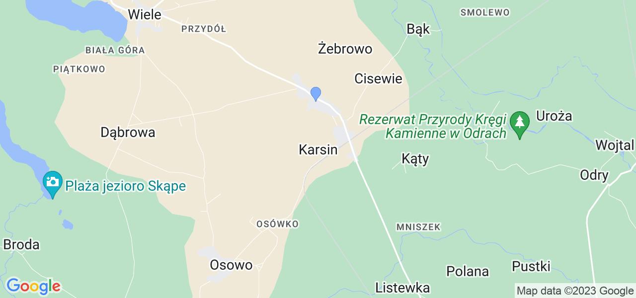 Dostępne w Karsinie lokalizacje punktów nadania, z których możesz skorzystać, chcąc wysłać turbinę do regeneracji w największym serwisie w Polsce