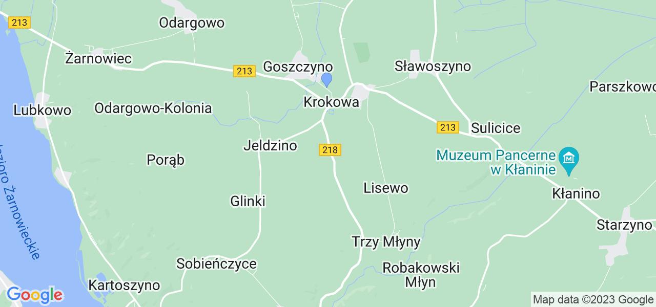 Dostępne w Krokowej lokalizacje punktów nadania, z których możesz skorzystać, chcąc wysłać turbinę do regeneracji w największym serwisie w Polsce