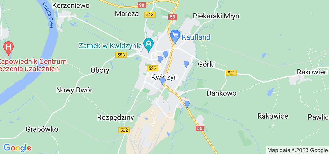 Dostępne w Kwidzynie lokalizacje punktów nadania, z których możesz skorzystać, chcąc wysłać turbinę do regeneracji w największym serwisie w Polsce