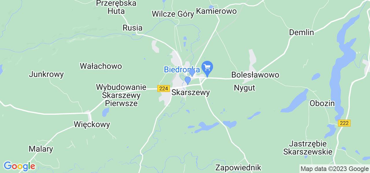 Dostępne w Skarszewach lokalizacje punktów nadania, z których możesz skorzystać, chcąc wysłać turbinę do regeneracji w największym serwisie w Polsce