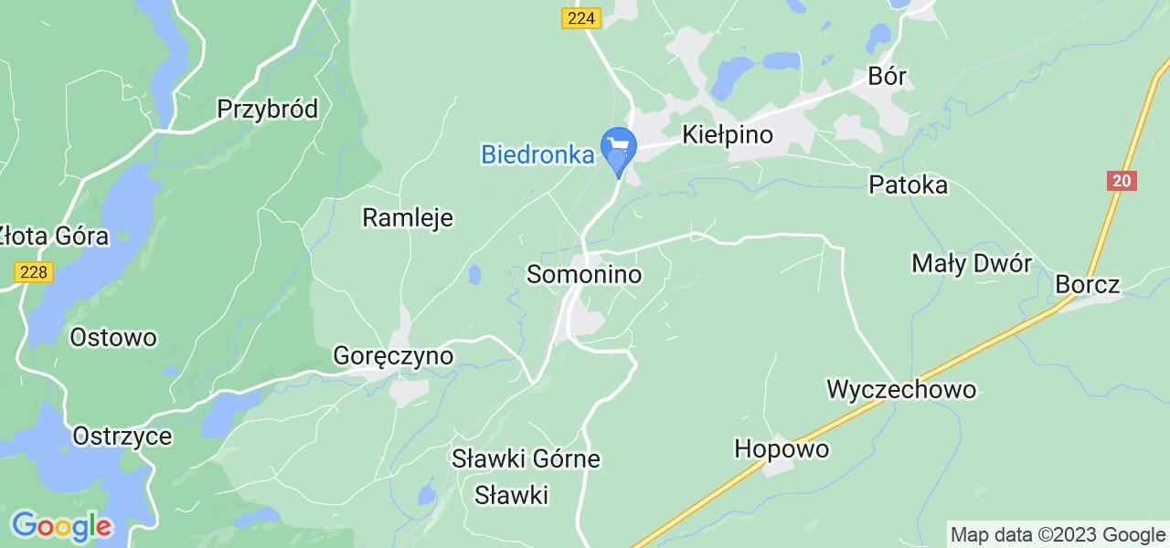 Dostępne w Somoninie lokalizacje punktów nadania, z których możesz skorzystać, chcąc wysłać turbinę do regeneracji w największym serwisie w Polsce