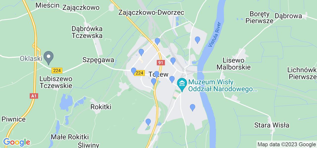 Dostępne w Tczewie lokalizacje punktów nadania, z których możesz skorzystać, chcąc wysłać turbinę do regeneracji w największym serwisie w Polsce