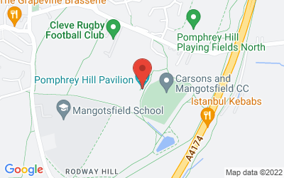 Map of  Pomphrey Hill Playing Fields, Bristol, BS16 9NF