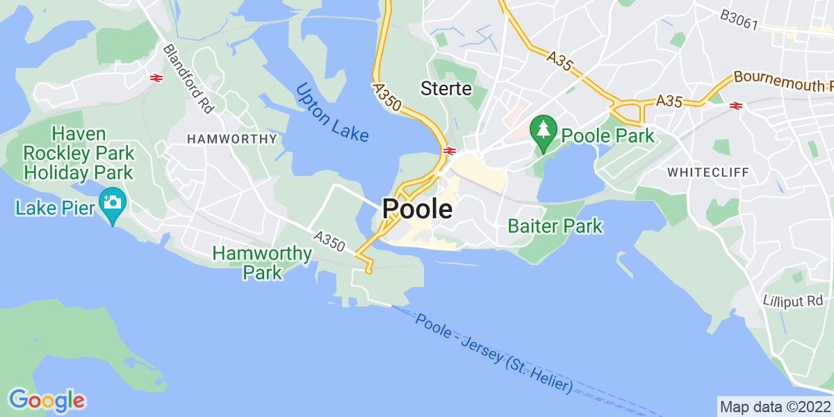 Map: HGV Class 1 Day Driver job role in Poole