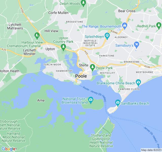 Website Designer Poole Google map of location