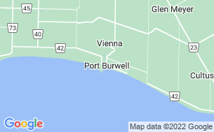 Map of Port Burwell Campground