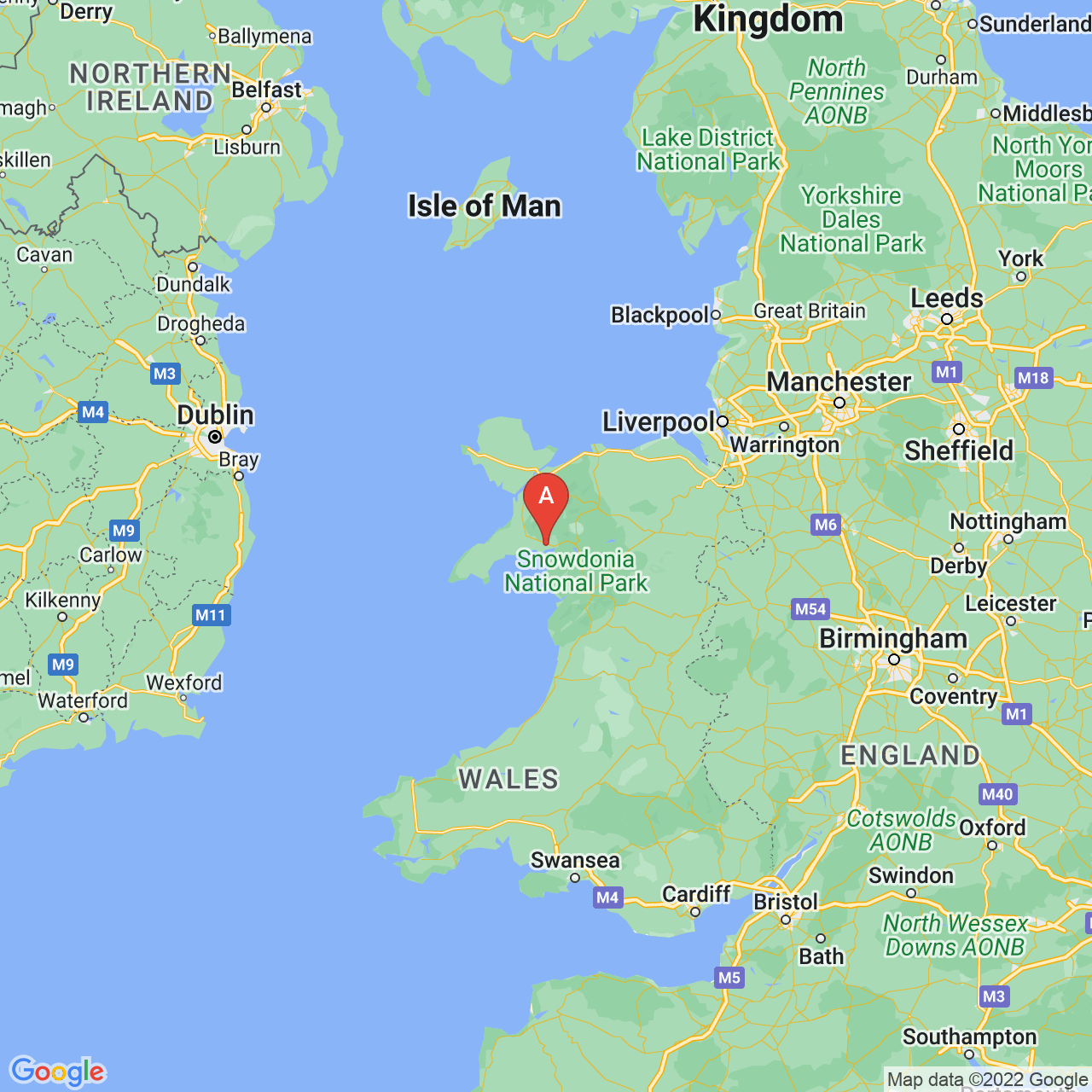 Porthmadog, Wales Map