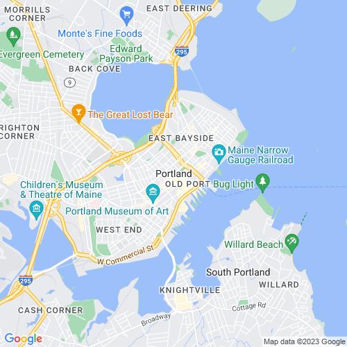 Map of Portland, ME