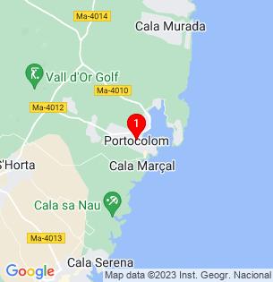 Google Map of Porto Colom, Baleares, Spain