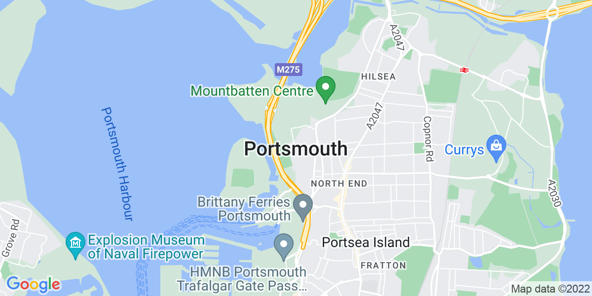 Map: Transport Planner job role in Portsmouth