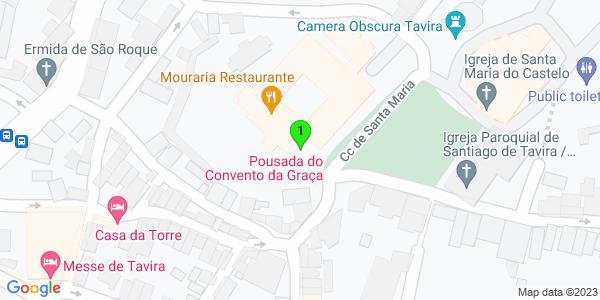Google Map of Pousada do Convento da Graça, Tavira