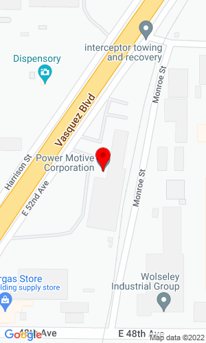 Google Map of Power Motive Corp. 5000 Vasquez Blvd., Denver, CO, 80216
