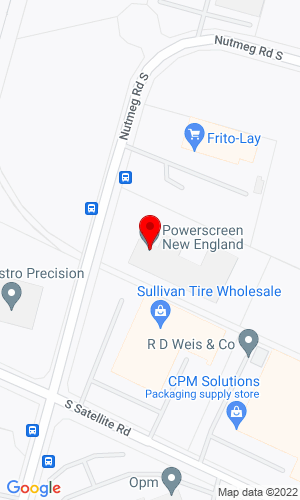 Google Map of Powerscreen Connecticut 284 North Street, Windsor Locks, CT, 06096