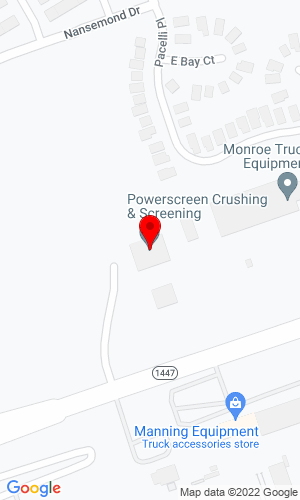 Google Map of Powerscreen Crushing & Screening 11901 Westport Road, Louisville, KY, 40245