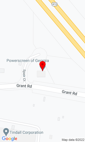 Google Map of Powerscreen of Georgia 4000 Speir Ct., Conley, GA, 30288
