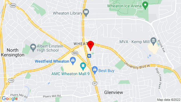 Google Map of Price/Fern Parking Lot Wheaton, MD