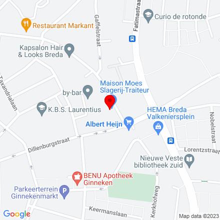 Google Map of Prins Hendrikstraat 192 4835 PT Breda
