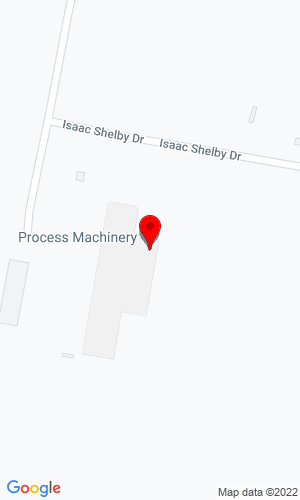 Google Map of Process Machinery, Inc. 1636 Isaac Shelby Drive, Shelbyville, KY, 40065