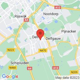 Google map of Vakwerkhuis, Delft