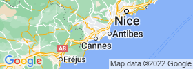 Le Cannet map