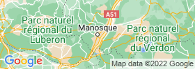 Manosque map