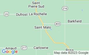 Map of Debonair Campground