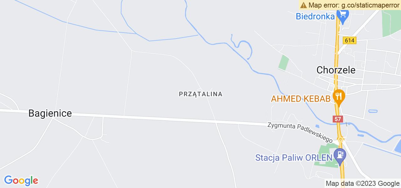 Jedna z ulic w Przątalinie – Wojska Polskiego i mapa dostępnych punktów wysyłki uszkodzonej turbiny do autoryzowanego serwisu regeneracji