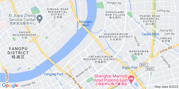 Google Map of Pudong+Avenue%2CPudong+New+District+Shanghai+China+200136