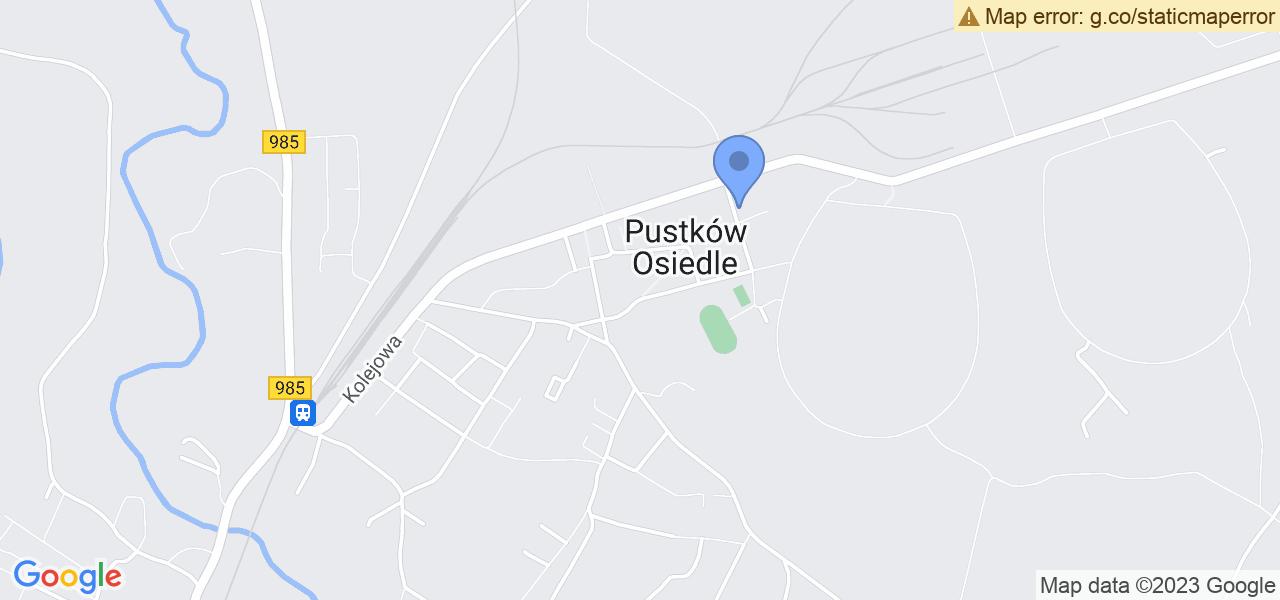 Jedna z ulic w Pustkowie-Osiedlu – Pustków - Osiedle i mapa dostępnych punktów wysyłki uszkodzonej turbiny do autoryzowanego serwisu regeneracji