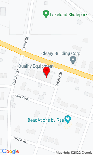 Google Map of Quality Equipment Inc 517 1st Ave, Woodruff, WI, 54568-1039