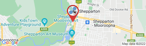 Shepparton google map