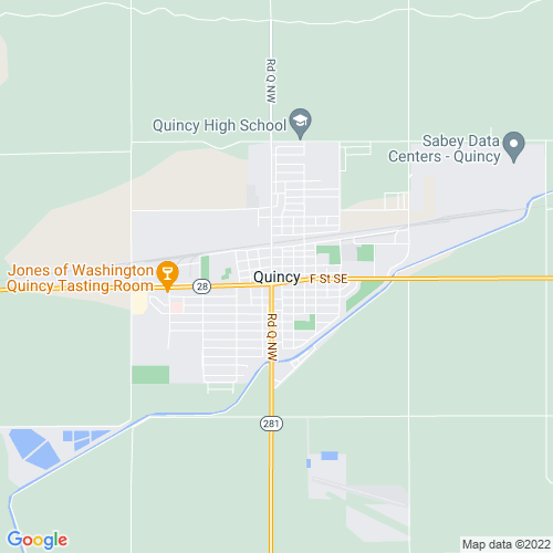 Map of Quincy, WA