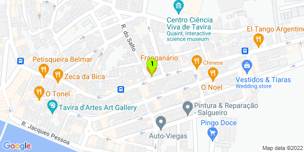 Google Map of R. Alm. Cândido dos Reis 139, 8800-318 Tavira