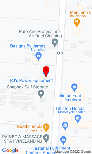 Google Map of R.J.'s Power Equipment 864 N Delsea Drive, Vineland, NJ, 08360