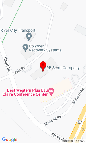 Google Map of RB Scott Company, Inc. 1011 Short Street, Eau Claire, WI, 54701