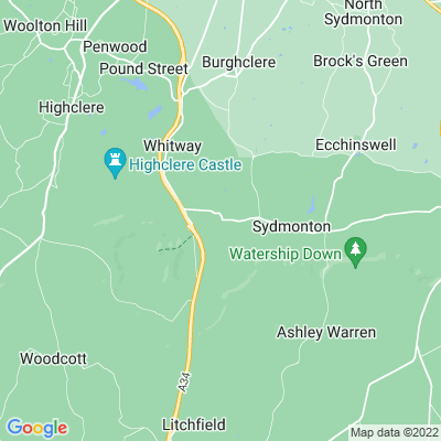 Burghclere Manor Location
