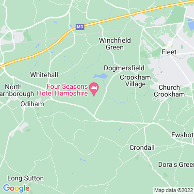 Dogmersfield Park and King John's Hunting Lodge Location
