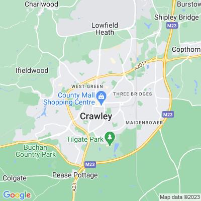 Memorial Gardens, Ifield and Crawley Location