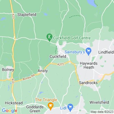 Cuckfield Park, kitchen garden Location
