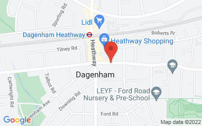 Map of Dagenham Library Clinic