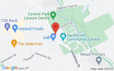 Map of Harold Hill Health Centre