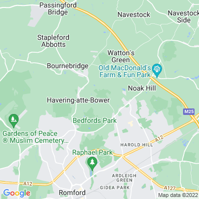 Bedfords Park, Havering-atte-Bower Location