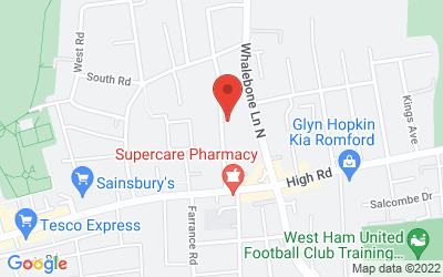 Map of Chadwell Heath Health Centre