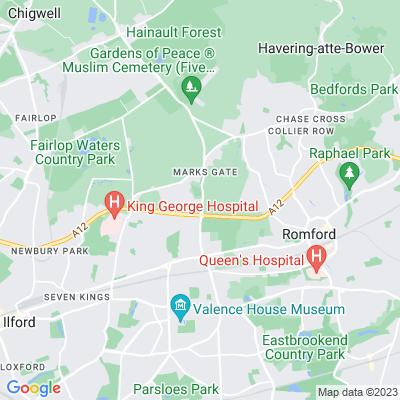 Chadwell Heath Cemetery Location