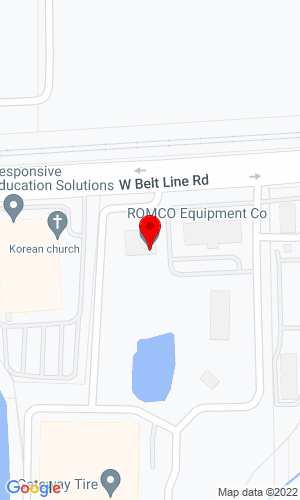Google Map of ROMCO Equipment Co. 1519 W Belt Line Road, Carrollton, TX, 75006