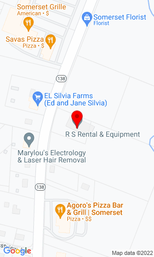 Google Map of RS Equipment 2900 County Street, Somerset , MA, 02726,